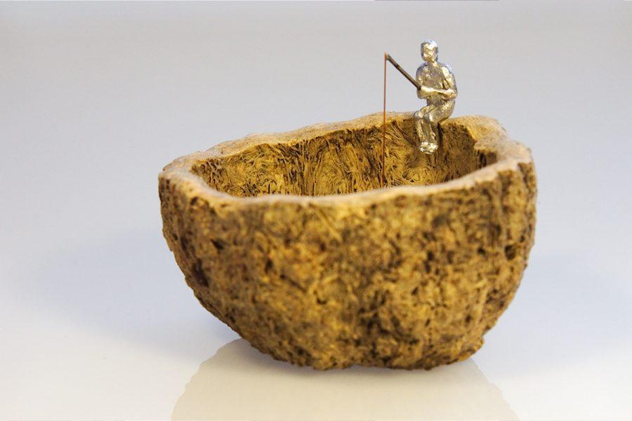 Angler Skulptur | fisherman sculptur