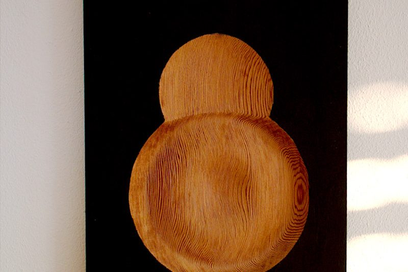Holzbild Nabel | wood picture navel