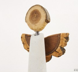 Schutzengel aus Beton und Holz | guardian angel made from concrete and wood